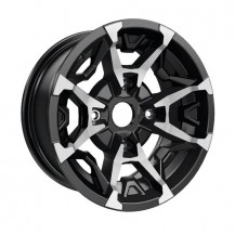 "Outlander X MR and Traxter Rim (Front - 14"" x 6.5"" offset = 10 mm)  Black and machined - Traxter, Traxter MAX (front wheels)"