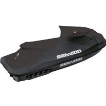 Trailering Cover - Sea-Doo SPARK 2up (compatible with Adjustable Riser and BRP Audio-Portable System; Black