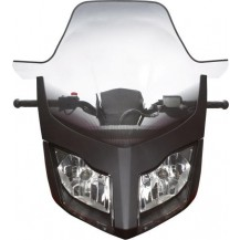 Ultra High Windshield (clear with fading) - REV-XR, XU, except MXZ and Renegade with J-hooks