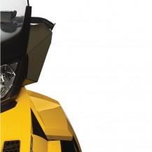 Windshield Side Deflector Kit (smoke) - REV-XR, XU Fits medium and high windshields using base kit